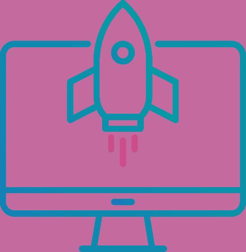 SEO Icon - rocket launching